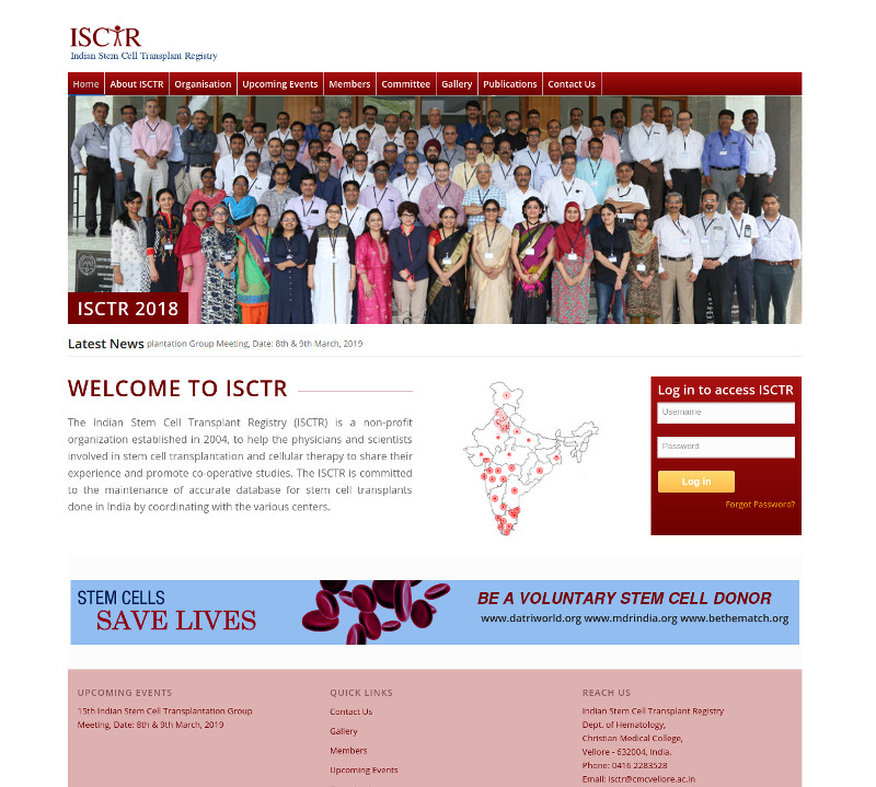 Chennai Web Directory | Indian Stem Cell Transplant Registry
