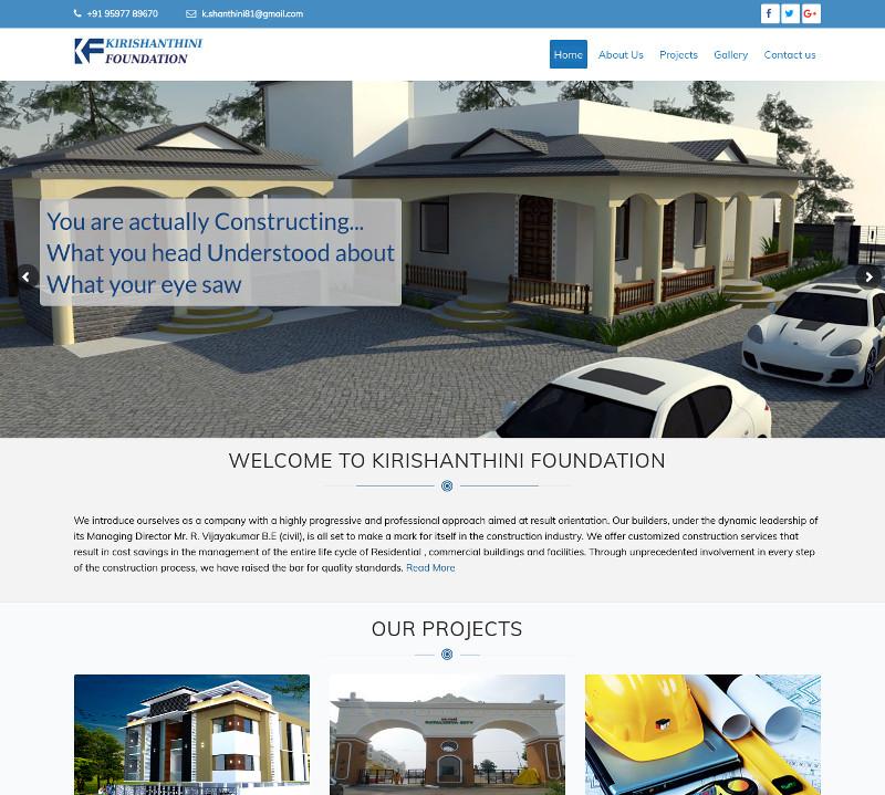 Chennai Web Directory | KIRISHANTHINI FOUNDATION | Constructions